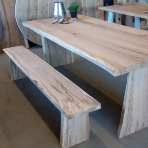Oak Table With Live Edges