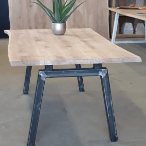 Live Edge Table With Industrial Legs