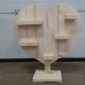 Decoration Heart Scaffolding Wood