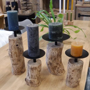 Oak Treetrunk Candle Holder