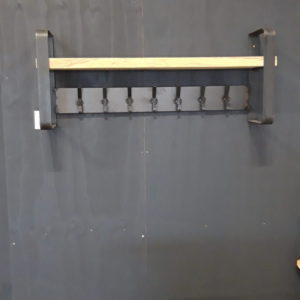 Coat Rack With Oak Shelf