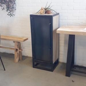 Cabinet Steel/oak