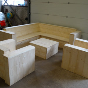 Wooden Scaffolding Lounge Set