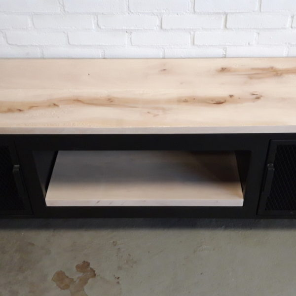 Tv Meubel Zwart Staal.Tv Furniture Made Of Steel And Wood