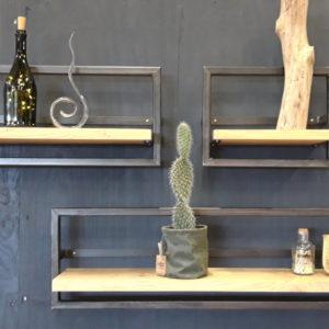 Wall Shelf Oak/steel